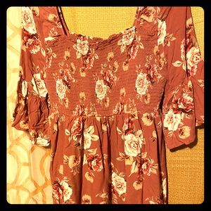 Juniors size L dress flower print cute gently used